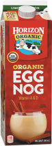 Satisfyingly delicious, low fat and organic. Made from wholesome organic milk and real organic eggs with a hint of organic nutmeg. product image.