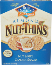 Almond Nut Thin Crackers product image.