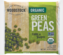 These sweet peas were raised organically and shelled for your convenience. product image.