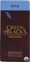 Milk chocolate made with 34% cocoa for a smooth, rich taste. product image.