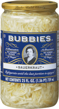 Bubbies Of San Francisco Sauerkraut Traditional 25 OZ product image.
