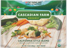 Cascadian Farm Organic Frozen Vegetables California-Style Blend 10 OZ product image.