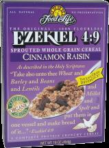 Organic Ezekiel 4:9 Cinnamon Raisin Cereal product image.
