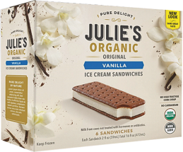 An exquisite, wholesome ice cream dessert made with the highest quality certified organic cream possible. product image.