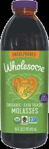 Wholesome Sweeteners Organic Molasses Blackstrap 16 FL OZ product image.