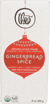 Milk Chocolate Ginger Spice Bar product image.