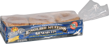Organic Genesis 1:29 Sprouted English Muffins product image.