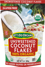 Let's Do Organic 100% Organic Coconut Flakes Original + Toasted 7 OZ product image.