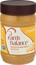 Earth Balance Natural Peanut Butter Creamy & Crunchy 16 OZ product image.
