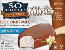 Non -Dairy Frozen Coconut Milk Dessert Minis Bars product image.