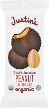 Justin's Nut Butter Organic Peanut Butter Cups 1.4 OZ All Varieties product image.