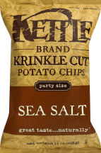 Sliced with deep ridges, cooked to golden perfection and seasoned with fresh sea salt. product image.