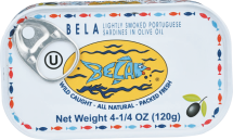 Bela Sardines from Portugal, packed fresh within 8 hours of the catch. product image.