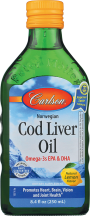Cod Liver Oil in Lemon Flavor  product image.