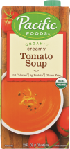 Pacific Natural Foods Organic Soup Creamy Tomato 32 FL OZ product image.