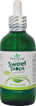 Pure stevia extract in water with a convenient dropper top. product image.