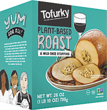 The Tofurky Roast is a pre-cooked vegetarian feast designed to be the delicious centerpiece of your holiday or everyday meal. product image.