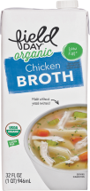 Field Day Organic Broth Free-Range Chicken, Beef & Vegetable 32 FL OZ product image.