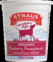 Organic Whole Milk Yogurt; Blueberry Pomegranate product image.