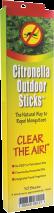 Outdoor Citronella Sticks product image.