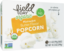 Organic Microwave Popcorn product image.