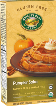 Light and crispy waffles with delicious whole grain nutrition. product image.