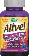 Alive! Women's 50+ Gummy Vitamins product image.