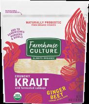 Organic Ginger Beet Saurkraut product image.