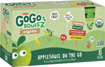 Organic Squeezable Applesauce product image.