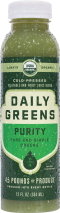 Pure green juice from cold-pressed cucumber, celery, kale, and broccoli with parsley, basil, and touch of lemon. product image.