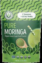 100% Organic Pure Moringa Vegetable Powder product image.