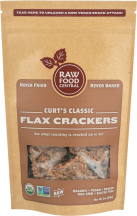 Organic Flax Crackers product image.