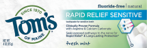 Rapid Relief Sensitive Toothpaste product image.