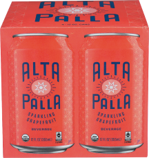 Alta Palla Organic Sparkling Beverage 4/12 FL OZ All Varieties product image.