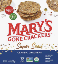 Organic Super Seed Crackers product image.