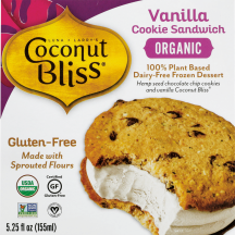 Made with hemp seed chocolate chip cookie and dairy free ice cream. product image.