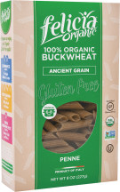 100% Organic Buckwheat Pasta product image.