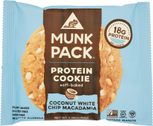 Munk Pack Protein Cookie Coconut White Chocolate Macadamia 2.96 OZ product image.