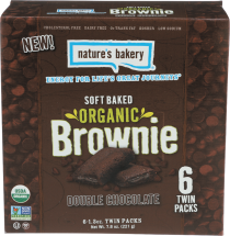 Nature's Bakery Organic Soft Baked Brownies Double Chocolate 6/1.3 OZ product image.