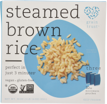 Organic Microwaveable Rice Pouches product image.