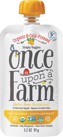 Once Upon A Farm Organic Baby Food Pouch 3.2 OZ All Varieties product image.