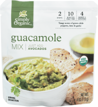 Organic Guacamole Mix Sauce product image.