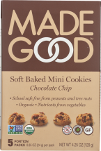 Organic Soft Baked Mini Cookies product image.