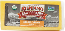 Organic Raw Cheddar Cheese product image.