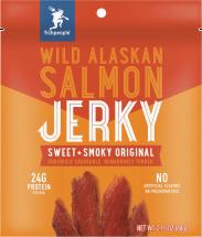 Wild Alaskan Salmon Jerky product image.
