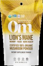 100% Organic Lion's Mane Mushroom Powder product image.
