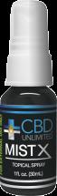 Mist X Topical CBD Spray product image.
