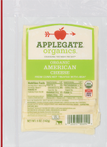 Applegate Farms Organic Sliced American Cheese 5 OZ. reg. $4.99 product image.