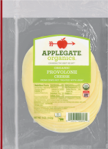 Applegate Farms Organic Sliced Provolone Cheese 5 OZ reg. $4.99 product image.