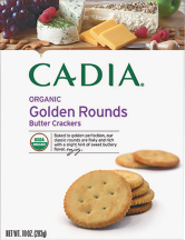 Cadia Organic Crackers Golden Rounds or Wheat Crisps 8 -10 OZ reg. $3.49 product image.